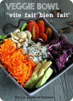 Un veggie bowl entre été et automne, vite fait bien fait !