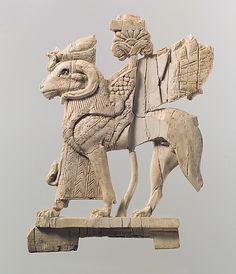 ❤ -  Openwork plaque with ram-headed sphinx    Period:      Neo-Assyrian  Date:      ca. 9th–8th century B.C.  Geography:      Syria, probably from Arslan Tash (ancient Hadatu)  Culture:      Assyrian  Medium:      Ivory