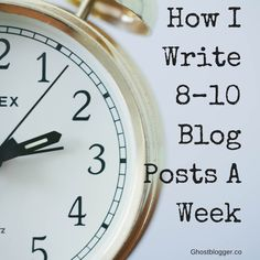 """One of the first questions I get asked when people find out I'm a professional blogger is, """"How do you write that many posts??"""" Find out for yourself: How I Write 8-10 Blog Posts a Week."""