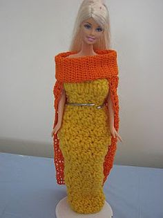 Donna's Crochet Designs Blog of Free Patterns: Cape for Barbie Free Crochet Pattern