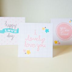 Printable Little Love Notes <3