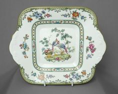 Spode, Elysee, vintage square cake plate, c1980s, FREE post UK | eBay