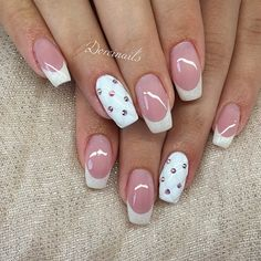 Wedding Nails November 02 2019 at Nail Tip Designs, French Nail Designs, Sns Nails Colors, Purple Nails, Vegas Nails, Diamond Nails, French Tip Nails, Classy Nails, Hot Nails