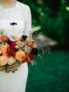 Autumn Wedding Florals. Designed by Celsia Floral. Photo: Christie Graham