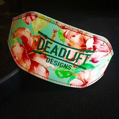 Aloha Weightlifting Belt by DeadliftDesigns on Etsy