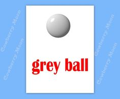 "Teach Baby to Read Book ""grey ball"" Page Instant Download,Homeschool Book  Page,Learn To Read Printable ""grey ball"" Page,Flashcards by CowberryMoon on Etsy"