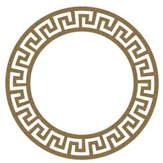 ! laser cut chipboard greek stye frame 2 6