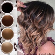 """Daylight Savings time has me needing all the coffee ☕️Who's with me 🙋., Summer Hairstyles, """" Daylight Savings time has me needing all the coffee ☕️Who's with me 🙋🏻♀️😴 Source by jennieivette. Brown Ombre Hair, Brown Hair Balayage, Ombre Hair Color, Hair Color Balayage, Brown Hair Colors, Hair Highlights, Balayage Hair Brunette Caramel, Ombre On Short Hair, Haircolor"""