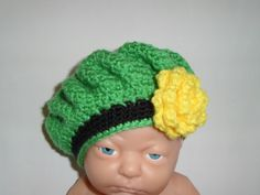 Crochet Baby Girls Irish Beret St. Patty's Day Hat by crafthappenz, $18.00
