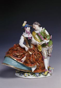 Beltrame and Columbine, Meissen, ca. 1740 | Kändler, Johann Joachim | V&A Search the Collections