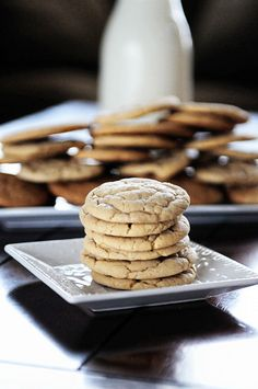 Soft and Chewy Vanilla Butter Cookies from www.dineanddish.net