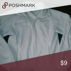 White Columbia Used . no stains or rips Columbia Sweaters