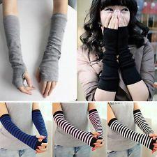 Neu Damen Strick Fingerlose Handschuhe Soft Warm Lang Armstulpen Handschuhe FINT