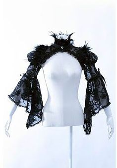 GOTH dark glamour ✤ :: Gothic Black Shrug - Red Queens Black Legion