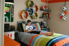 kids bedrrom sports theme | Bedroom Design, Teenage Boys Bedrooms Sports Theme: Awesome Teen Boy ...