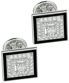 Cairn Terrier Dog Image Rhodium Plated Small Bordered Cufflinks in Gift Box