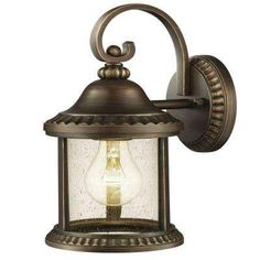 Cambridge Collection 1-Light Essex Bronze Outdoor Medium Wall Lantern