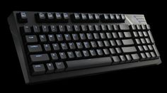 CM Storm Quick Fire TK compact keyboard with Cherry MX Blue switches. Might have to look at one of these, but where are the cursor keys?