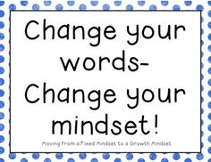 It's so important to teach kids to train their inner voice. We want them to see the possibilities, not the limitations. I laminated these and put them up as a bulletin board to remind students to keep a growth mindset. I hope you enjoy them. Fixed Mindset, Change Your Mindset, Success Mindset, Elementary Counseling, School Counselor, The Most Magnificent Thing, Visible Learning, Growth Mindset Quotes, 21st Century Learning
