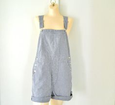 90s Overall Shorts Womens Overalls Womens by TheVilleVintage, $39.99