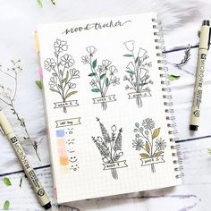 """A Lot Mall sur Instagram: Mood tracker bouquet💐. Let's play with the colors🎨😀. We're inspired by artist @wonderjournals.  (✯ᴗ✯) Quote of The Day 🌈.  """"If everyone…"""