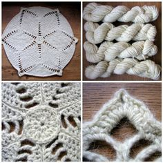 Cream Wool Rug by Hand Knitted Things, via Flickr