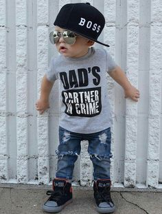 dad's partner in crime tshirt for baby - soooo adorable