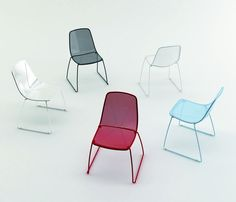Malik Gallery Collection | Windsor Stackable Side Chair - Wire mesh