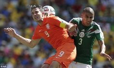 View World Cup round of 16 - Netherlands vs. Mexico pictures on Yahoo Sports Canada. See World Cup round of 16 - Netherlands vs. Mexico photos and find more pictures in our photo galleries. Van Persie, Soccer Match, Football Wallpaper, World Cup 2014, Netherlands, Holland, Funny Pictures, Mexico, Challenges