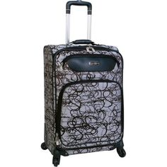 #saucy Jessica Simpson Luggage Signature Twister 24″ Exp Spinner (Black)