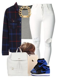 """Dark Plaid."" by livelifefreelyy ❤ liked on Polyvore featuring Topshop, A.P.C., (+) PEOPLE, DKNY and Michael Kors"