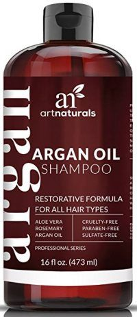 Art Naturals Organic Moroccan Argan-Oil Shampoo – Moisturizing, Volumizing Sulfate Free Shampoo for Women, Men and Teens – Used for Colored and all Hair Types, Anti-Aging Hair Care, 16 Ounce Bottle – Health and Beauty Products Best Hair Care Products, Hair Care Brands, Beauty Products, Argan Oil Hair Mask, Hair Oil, Aloe Vera, Argan Oil Conditioner, Natural Remedies, Products