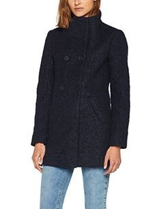 ONLY Damen Mantel Onlsophia Noma Wool Coat CC Otw Blau (Night Sky  Detail:Melange