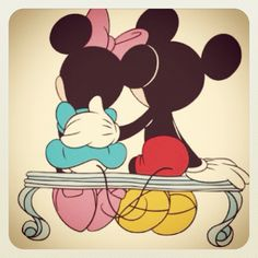Mickey and Minnie Mouse :)