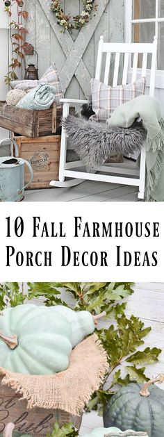 Come sit for a spell and be inspired by these 10 fall farmhouse porch decor ideas. via /dandelionpatina/ (Fall Diy For Teens) Fall Home Decor, Autumn Home, Unique Home Decor, Diy Home Decor, Rustic Farmhouse, Farmhouse Style, Seasonal Decor, Holiday Decor, Vibeke Design