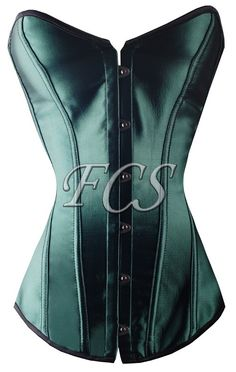 Green Satin Overbust Corset (great website for cheap corsets)