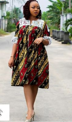 ankara styles - - Unique and trendy Ankara styles for ladies 2019 - photo Ankara Dresses Short African Dresses, Latest African Fashion Dresses, African Print Dresses, African Print Fashion, Ankara Fashion, Africa Fashion, African Prints, African Fabric, Short Dresses