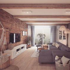 Home Inspiration // Loft Interior The Perfect Scandinavian Style Home Home Design Decor, Design Your Home, Home Interior Design, Interior Shop, Interior Livingroom, Interior Plants, Interior Styling, Loft Design, Design Case