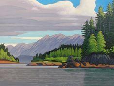 Nicholas Bott: New Works — Madrona Gallery Contemporary Landscape, Landscape Art, Landscape Paintings, Canadian Painters, Canadian Artists, Seascape Paintings, Cool Paintings, Landscape Pictures, Art Studies