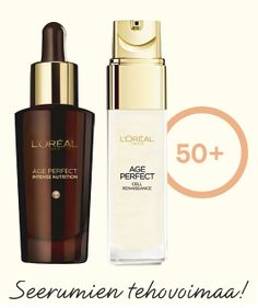 Age Perfect -seerumit +50 iholle Age, L'oréal Paris, Loreal, Nail Polish, Beauty, Beleza, Nail Polishes, Manicure, Cosmetology