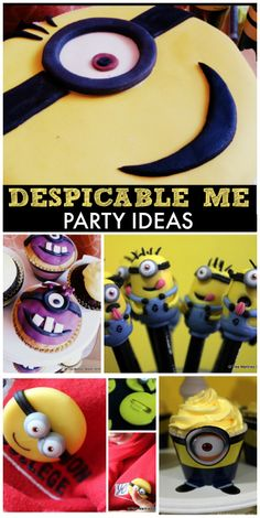 So many fun Minions at this Despicable Me boy birthday party with a great cake and decorations!  See more party ideas at CatchMyParty.com!