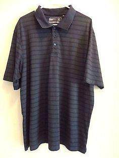 ❗ NEW LISTING 4.00 @SalesForToday   Mens Polo Short Sleeve Shirt -size XXL- Mercerized Cotton Blue Stripe