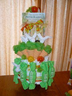 Beatrix Potter Peter Rabbit  Baby Shower by ShowerCakesGalore, $180.00