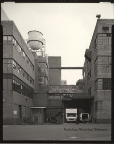 Former Maxwell House Coffee plant in Hoboken, New Jersery, from the Hoboken Historical Museum.