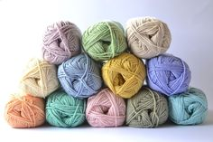 Debbie Bliss Baby Cashmerino stash from Dover & Madden. Such a pretty color palette!