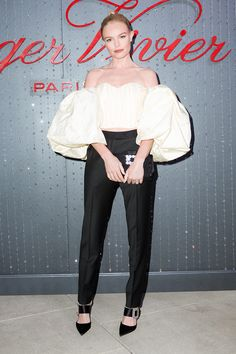 Volume Up - Kate Bosworth in Ellery top and Roger Vivier shoes and bag at the Roger Vivier STRASS Sparkle Day to Night event in Los Angeles.
