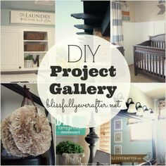 DIY Project Gallery+ Crafts, Recipes, and Cleaning/Organizing Tips at Blissfully Ever After