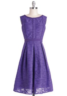 Amethyst Is Us Dress. You and your pals plan to stand out at tonights movie premiere, so you each build an outfit around a bold hue. #purple #modcloth