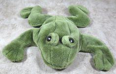 "Folkmanis Green 12"" Plush Frog Toad Full Body Puppet Stuffed Animal Toy #Folkmanis"