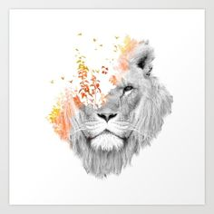 surreal photo manipulation featuring the king lion.<br/> <br/> surreal, dream, fantasy, lion, king, jungle, nature